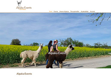 Website Alpaka-Event